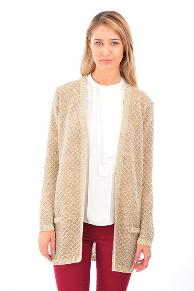 Cardigan model fagure cu fir lame B994
