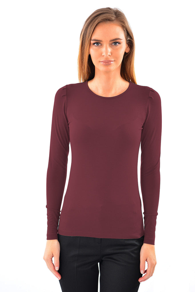 bluza basic bordo B4637