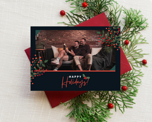 Happy Holidays Printed Holiday Cards