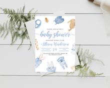 Load image into Gallery viewer, Little Boy Printed Baby Shower Invitations