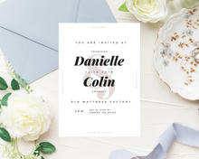 Load image into Gallery viewer, Simple Ampersand Printed Wedding Invitations