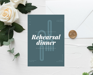 Fork & Spoon Printed Rehearsal Dinner Invitations