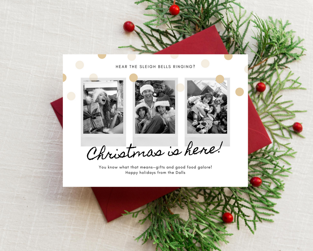 Poloroid Printed Holiday Cards