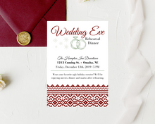 Load image into Gallery viewer, Ugly Christmas Sweater Printed Rehearsal Dinner Invitations