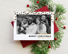 Load image into Gallery viewer, Glitter Dots Printed Holiday Cards