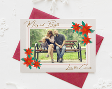 Load image into Gallery viewer, Painted Poinsettia Printed Holiday Cards