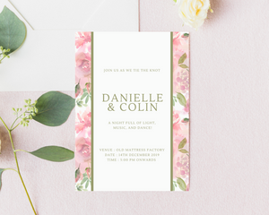 Lush Matte Frame Printed Wedding Invitations