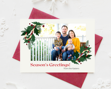 Load image into Gallery viewer, Candy Cane Bunch Printed Holiday Cards