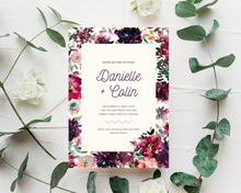 Load image into Gallery viewer, Whisper Floral Background Printed Wedding Invitations