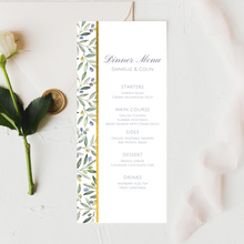 Load image into Gallery viewer, Olive Branch Geometric Printed Menu Cards