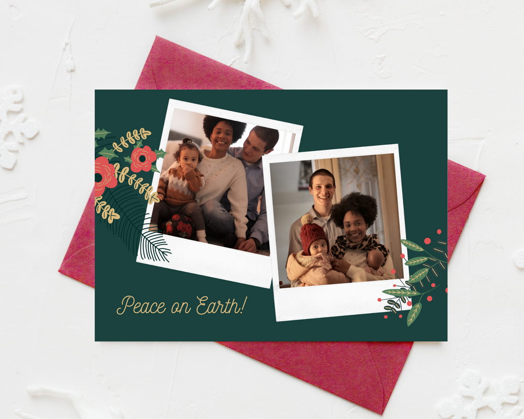 Poloroid Photos Printed Holiday Cards