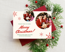 Load image into Gallery viewer, Christmas Snowflakes Printed Holiday Cards