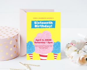 Sweet Sixteen Printed Birthday Party Invitations
