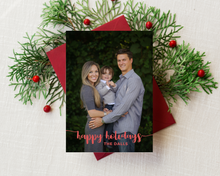 Load image into Gallery viewer, Bubbly Handwriting Printed Holiday Cards