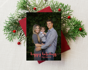 Bubbly Handwriting Printed Holiday Cards
