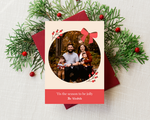 Berry & Bow Printed Holiday Cards