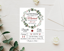 Load image into Gallery viewer, 'Tis the Season to be Married Printed Wedding Invitations