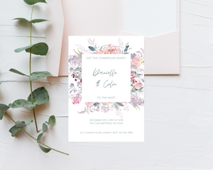 Une Fille Frame Printed Wedding Invitations
