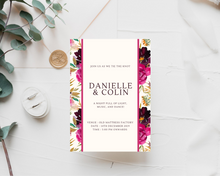 Load image into Gallery viewer, Autumn Bouquets Border Printed Wedding Invitations