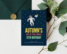 Load image into Gallery viewer, Out of This World Printed Birthday Party Invitations