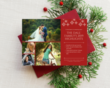 Load image into Gallery viewer, Family Highlights Printed Holiday Cards