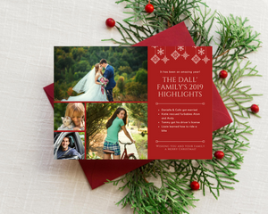 Family Highlights Printed Holiday Cards