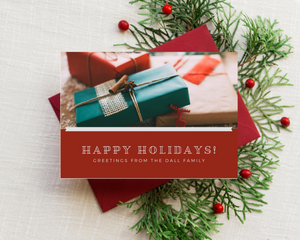 Solid Color Printed Holiday Cards
