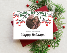 Load image into Gallery viewer, Cranberry Printed Holiday Cards