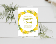 Load image into Gallery viewer, Charming Mimosa Circle Printed Wedding Invitations