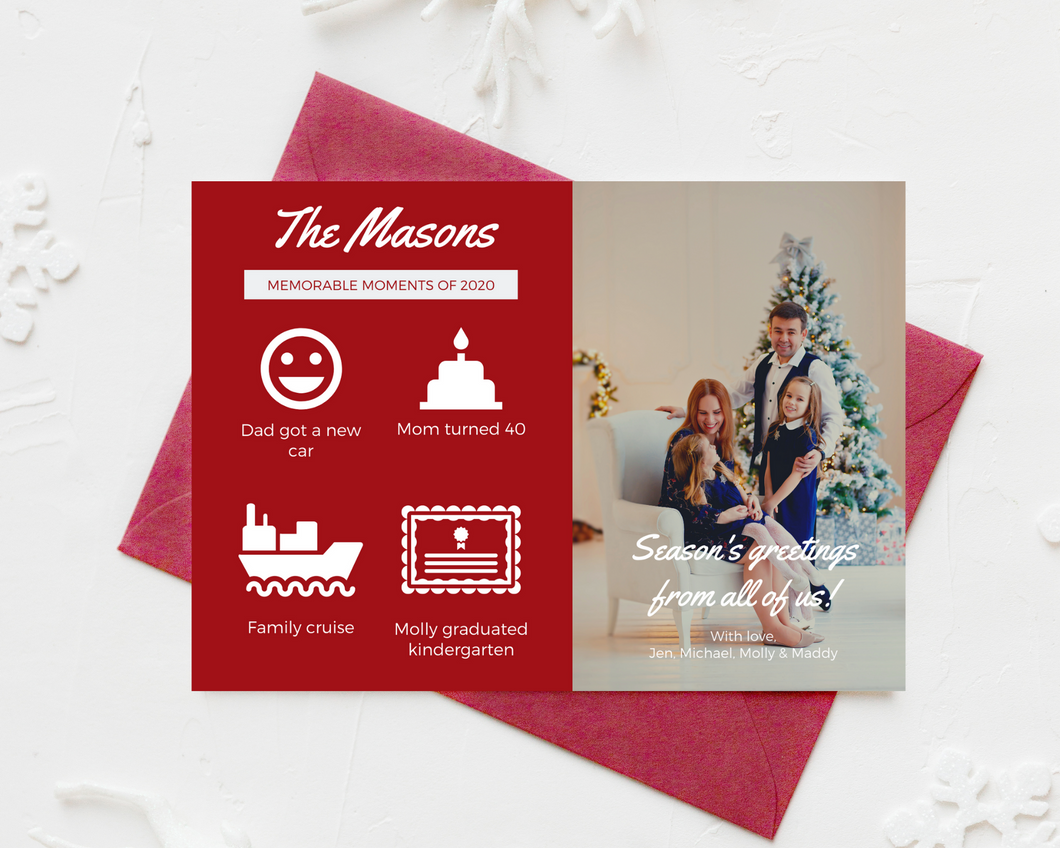 Memorable Moments Printed Holiday Cards