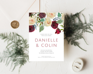 Winter Solemnity Printed Wedding Invitations