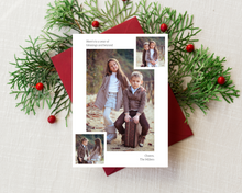Load image into Gallery viewer, Modern Collage Printed Holiday Cards