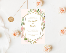 Load image into Gallery viewer, Lush Matte Geometric Printed Wedding Invitations