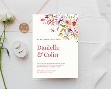 Load image into Gallery viewer, Cherry Blossom Printed Wedding Invitations