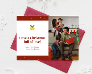 Full of Love Printed Holiday Cards