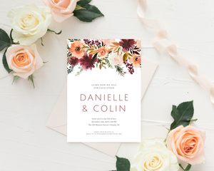Romance Printed Wedding Invitations
