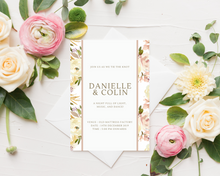 Load image into Gallery viewer, Dusty Rose Border Printed Wedding Invitations