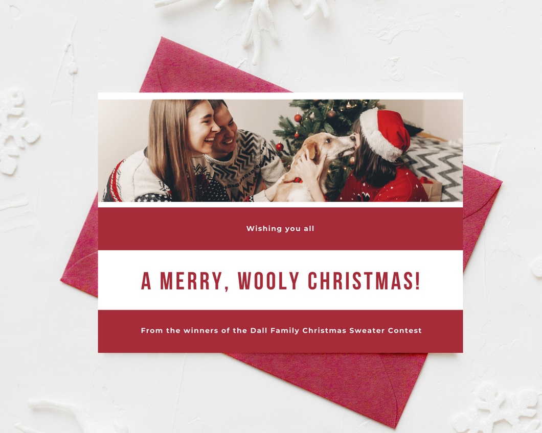 Wooly Christmas Printed Holiday Cards