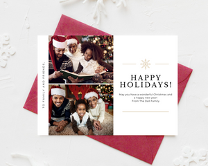 Two Photo Printed Holiday Cards