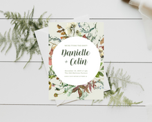 Load image into Gallery viewer, Fall Spice Circle Printed Wedding Invitations