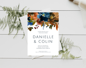 Ginger Ale Printed Wedding Invitations