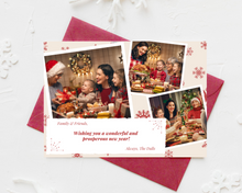 Load image into Gallery viewer, New Year Snowflakes Printed Holiday Cards