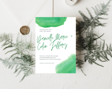 Load image into Gallery viewer, Watercolor Green Printed Wedding Invitations