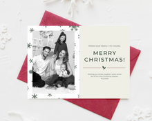 Load image into Gallery viewer, Simple Printed Holiday Cards