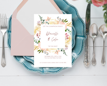 Load image into Gallery viewer, Dusty Rose Frame Printed Wedding Invitations