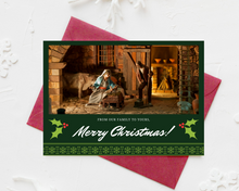 Load image into Gallery viewer, Red & Green Printed Holiday Cards