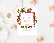 Load image into Gallery viewer, Holly Stems Frame Printed Wedding Invitations