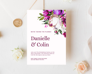 Purple Lush Printed Wedding Invitations