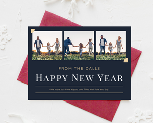 Scrapbook New Year Printed Holiday Cards