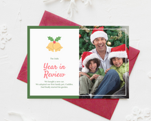 Load image into Gallery viewer, Year in Review Printed Holiday Cards